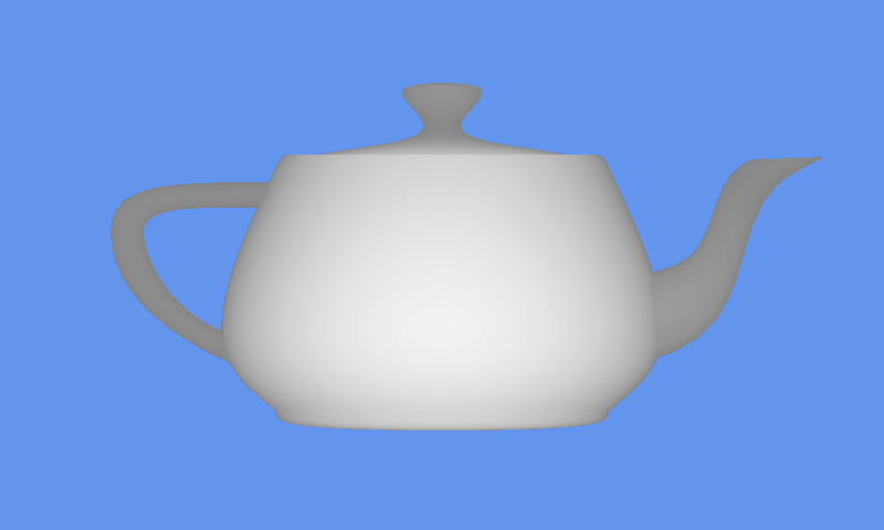 Greyscale rendered teapot 3D model