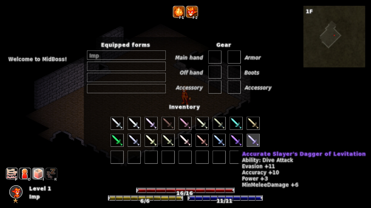 MidBoss inventory screenshot